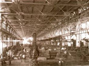The railroad shops across North America represented a large portion of the continent's industrial capacity. Almost any shop of this size could build locomotives from scratch.