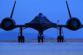 The Lockheed SR-71A Blackbird reconnaissance aircraft prepares for flight. The Blackbird parked at the Steven F. Udvar-Hazy Center once flew from Los Angeles to Washington, D.C., in one hour, four minutes and 20 seconds.