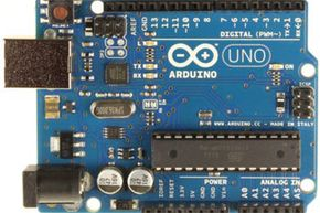 Shot of the Arduino Uno R3 for sale on Amazon, another board operating in a similar space to the Raspberry Pi