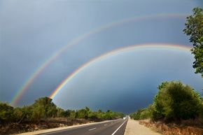 A double rainbow is not seen often, but it's not the rarest thing out there.