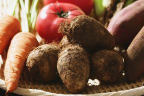 Raw taro can irritate the skin of those who handle it; gloves are recommended.