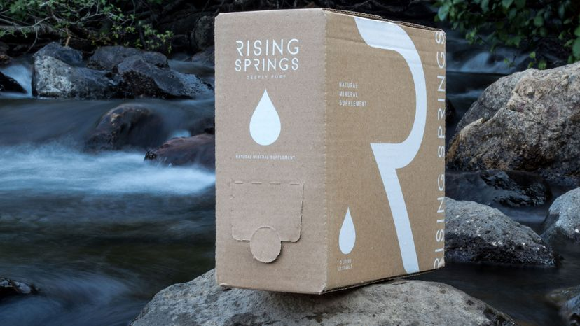 5-liter supply of  water from Rising Springs