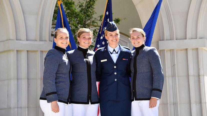 VMI female students at graduation