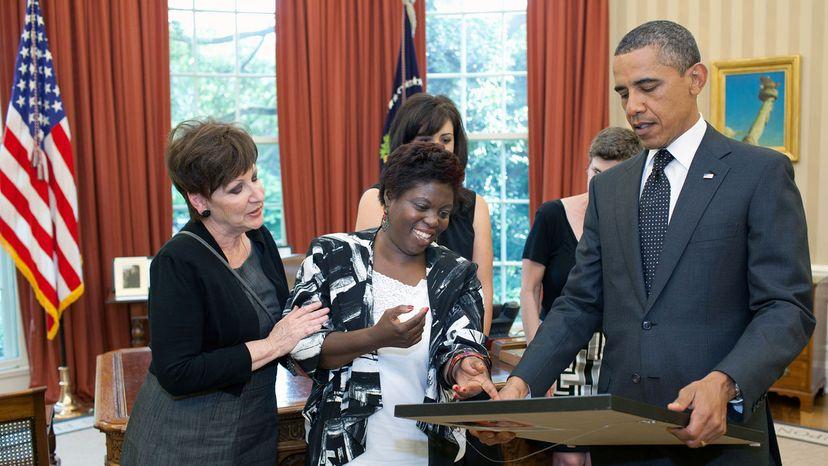 Lois Curtis and Barack Obama