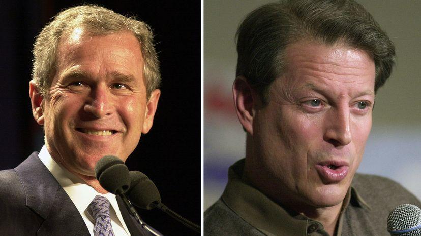George W. Bush and Al Gore