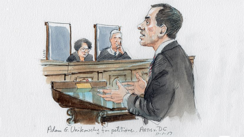 Supreme Court sketch