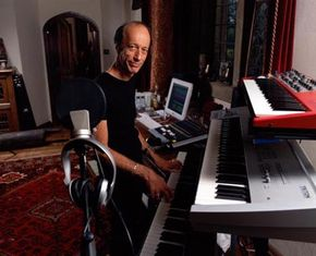 Home recording studios are becoming more popular such as this one owned by Robin Gibb.