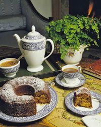 A pre-made cake and some coffee is all you need to complete an impromptu meal.