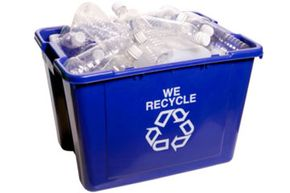 Which items from your recycling bin can be used in home building? See more green living pictures.