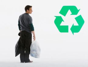 One of the things that guy is about to recycle could be better than the others. See more green living pictures.