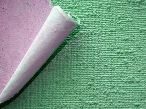 Fabric-coated wallpaper and vinyl wallpaper may emit volatile organic compounds. See more pictures of hidden home dangers.