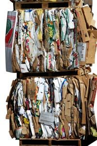 Recycled paper products can be converted into wallpaper.