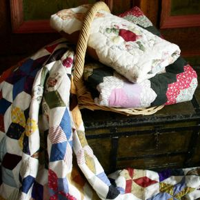 What's the most popular and practical thing to do with your old scraps of fabric? Create a quilt.