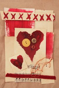 Creating collage art is a great way to recycle a variety of materials.