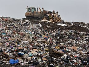 How do you know whether your recyclables are actually being recycled rather than being dumped at a landfill like this one in Canterbury, U.K.? See more landfill images.