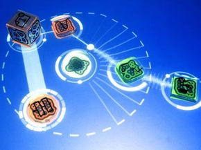 The position of each object on the reactable's tabletop surface affects the outcome of the music, giving players a seemingly endless amount of choices.