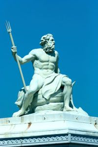 One of the many shared similarities between Atlantis and Helike: Both were centers for the worship of Poseidon, Greek god of the sea and of earthquakes.
