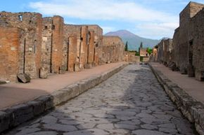 """Pompeii, Italy (shown above), was an incredible archeological find, a city frozen in time. Researchers looking for ancient Helike hoped to find a """"Greek Pompeii"""" in the city. They found that and a """"Bronze Age Pompeii"""" as well."""