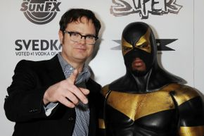 Phoenix Jones, pictured here with actor Rainn Wilson at the premiere of the documentary 'Super' in Los Angeles, Calif. on March 21, 2011.