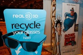 After your movie, you can toss your RealD glasses in a bin for recycling. Unless you want to take them home and bedazzle them.
