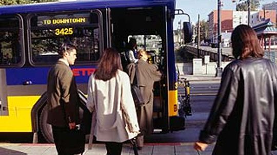 How does public transportation help the environment?