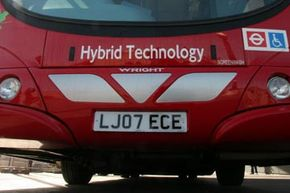 Even environmentally friendly buses in London are catching onto hybrid technology.