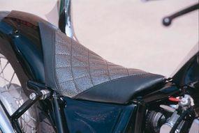 The Honda-powered Rebel exhibits a custom seat insert.