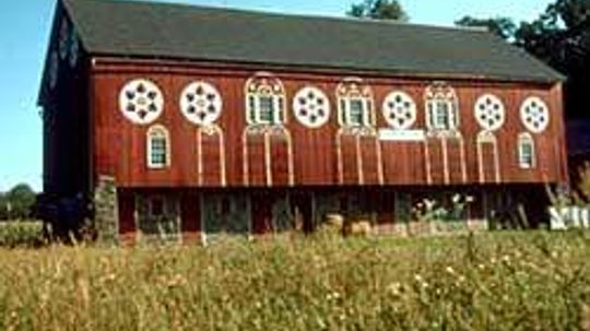 Why are barns usually painted red?