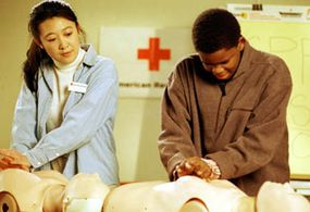 A Red Cross CPR class in session