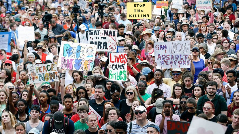 Florida enacted a red flag law after 17 people were killed at Marjory Stoneman Douglas High School on Feb. 14, 2018. Don Juan Moore/Getty Images