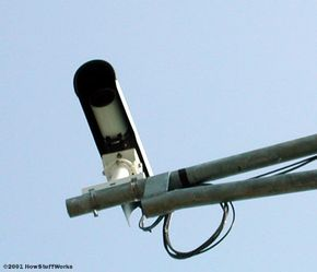 Most modern red-light-camera systems use digital cameras. Older ones use 35-mm cameras, in which case the film has to be collected for development periodically.