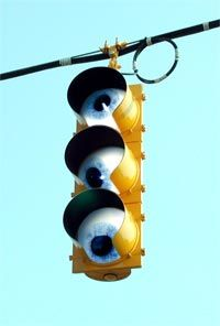 These days, even traffic lights are keeping an eye on you.