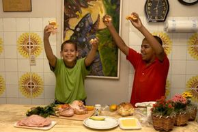 Adding artwork in your kitchen will add life, color and make your children very happy.