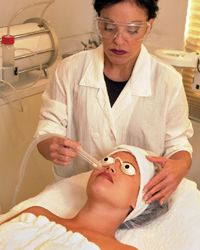 Microdermabrasion can help to heal your skin.