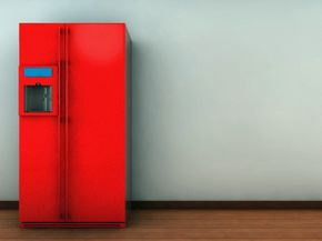 If you want a red fridge, you're probably going to have to turn to paint to get it.