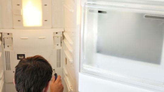 What is the function of the fan in a refrigerator?
