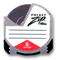 Iomega PocketZip drives provide fast and easy storage using small, 40-MB cartridges.