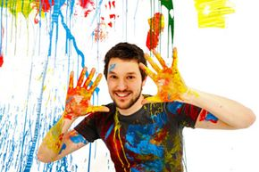 You probably won't get this messy unless you really try, but painting is a dirty job!