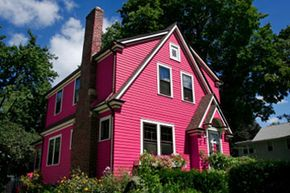 Restrictive covenants are designed to enforce standards in neighborhoods, and prevent things like this Pepto pink eyesore. See more home construction pictures.