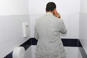 Think of the germs your phone picks up when you're talking in the toilet -- not to mention the danger that the phone falls in.