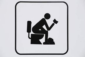 It may seem like you're multitasking efficiently if you take an office book or magazine into the commode but really, is that fair to your other coworkers who may read it later?