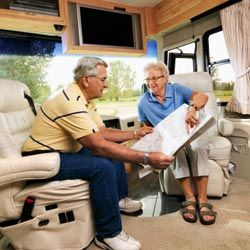 Many seniors hit the road in an RV to visit family and friends or check out tourist destinations.