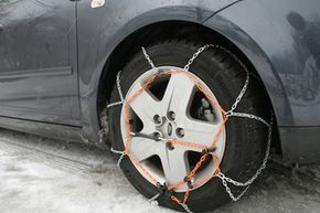 The ultimate in real-world tire-conversion technology: tire chains.