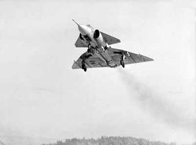 The Saab 37 Viggen, with its unique double-delta configuration, made its first flight in 1967, and rapidly became Sweden's primary military aircraft.