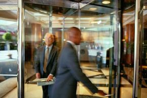 The revolving door might be annoying to use, but it has a lot of energy advantages over the swinging door.