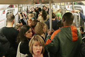 'Pack it out' doesn't only refer to how many people you can fit on the subway. It's also a reminder to take any litter with you when you disembark.