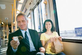 If you're going to eat en route, bring something that doesn't smell or crumble.