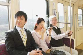 Putting on makeup (or cutting your nails) while riding can be distracting -- or gross -- to other passengers.