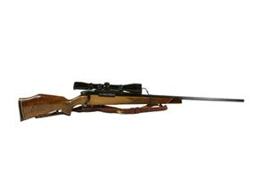 A rifle and scope