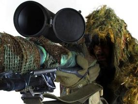 Military sniper scopes sometimes have very large objective lenses -- something hunters don't need.